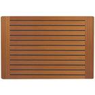 Grosfillex 99851508 X1 32 inch x 48 inch Teak Decor Outdoor Molded Melamine Table Top