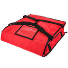 Rubbermaid FG9F3500RED ProServe Insulated Small Pizza Delivery Bag Red Nylon 18 inch x 18 inch x 5 1/4 inch