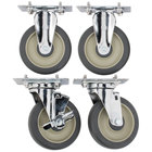 Cambro UPCS400CK Rigid and Swivel Stem Casters - 4/Set