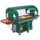 Cambro VBRU6519 Kentucky Green 6' Versa Food / Salad Food Bar with Storage and Standard Casters