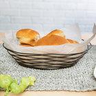 Tablecraft BK17409 Artisan Oval Black Wire Basket - 9 inch x 6 inch x 2 1/4 inch