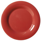 GET WP-9-CR 9 inch Diamond Harvest Cranberry Wide Rim Plate - 24 / Case