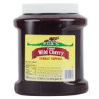 Fox's Cherry Ice Cream Topping - 1/2 Gallon Container