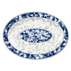 Thunder Group 2012DL Blue Dragon 12 inch x 8 5/8 inch Oval Melamine Platter - 12/Pack