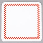 Square Write On Deli Tag with Red Checkered Border - 25/Pack