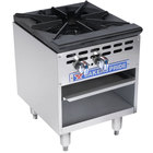 Bakers Pride Restaurant Series BPSP-18-3 Liquid Propane Single Burner Stock Pot Range