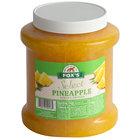 1/2 Gallon Pineapple Ice Cream Sundae Topping - 6/Case