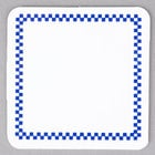 Square Write On Deli Tag with Blue Checkered Border - 25/Pack