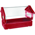 Carlisle 660005 Six Star Red 4' Tabletop Food / Salad Bar with Sneeze Guard