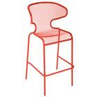 BFM Seating DV560GE Maze Grenadine Stackable Steel Outdoor / Indoor Bar Height Armchair