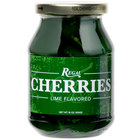 Regal 16 oz. Green Maraschino Cherries with Stems