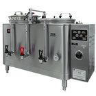 Grindmaster Cecilware 74410E Twin Midline 10 Gallon Heat Exchange Coffee Urn - 120/208/240V, 3 Phase, 15/15 kW