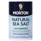 Morton 26 oz. All-Purpose Natural Sea Salt   - 12/Case