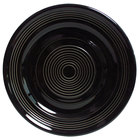 Tuxton CBA-104 Concentrix 10 1/2 inch Black China Plate   - 12/Case