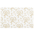 6 7/8 inch x 4 1/4 inch 3-Ply Glassine 1/2 lb. White Candy Box Pad with Gold Floral Pattern   - 250/Case