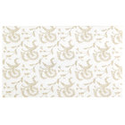 9 1/4 inch x 5 1/2 inch 3-Ply Glassine 1-2 lb. White Candy Box Pad with Gold Floral Pattern   - 250/Case