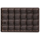 9 5/16 inch x 6 inch x 3/4 inch Brown 24-Cavity Candy Tray - 250/Case