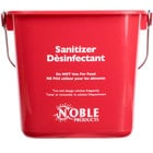 Noble Products 6 Qt. Red Sanitizing Pail