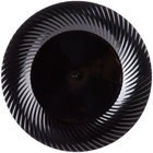 Visions Wave 7 inch Black Plastic Plate   - 18/Pack