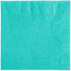 Creative Converting 324767 2-Ply Teal Lagoon Beverage Napkin - 50/Pack