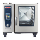 Rational B618206.19E SelfCookingCenter XS Model 61 Natural Gas Single Deck Half Size Combi Oven - 208V, 49,000 BTU