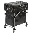 Rubbermaid Laundry Cart, 4 Bushel Collapsible X-Cart with Black Cover