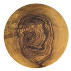 American Metalcraft OWM171 17 1/4 inch Olive Wood Round Melamine Serving Board