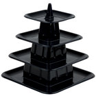Matfer Bourgeat 681598 4-Tier Black Macaroon Mini Pyramid Display Stand - 6/Pack