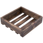 American Metalcraft WCVS 9 inch x 9 inch x 2 3/8 inch Vintage Small Wood Crate