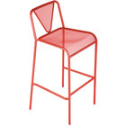 BFM Seating DV555GE Venice Beach Grenadine Stackable Steel Bar Height Chair