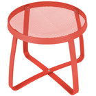 BFM Seating DVL18R-GE Maze 18 inch Round Grenadine Steel Side Table