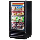 True GDM-10F-LD Black Glass Door Merchandiser Freezer with LED Lighting - 10 Cu. Ft.