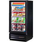 True GDM-10F-LD Black Glass Door Merchandiser Freezer with LED Lighting