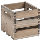 American Metalcraft WTV6 6 1/4 inch x 5 3/4 inch x 5 3/4 inch Vintage Wood Crate