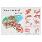 10 inch x 14 inch How to Eat a Lobster Paper Placemat with Scalloped Edge   - 1000/Case