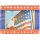 10 inch x 14 inch Patriotic Paper Placemat with Scalloped Edge   - 1000/Case