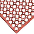 3' x 5' Red Grease-Resistant Anti-Fatigue Floor Mat - 3/4 inch Thick