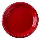 Dart Solo PS95R-0099 9 inch Red Plastic Plate - 500/Case