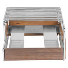 Cal-Mil 3712-49 Mid-Century Walnut Butane Range Frame with Chrome Accents