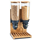 Cal-Mil 3576-2-99FF Madera 10 Liter Double Canister Free Flow Cereal Dispenser