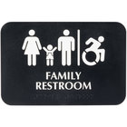 Tablecraft 695651 ADA Family Restroom / Handicap Accessible Restroom Sign with Braille - Black and White, 9 inch x 6 inch