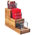 Cal-Mil 3612-4-99 3-Step Madera Reclaimed Wood Display with 3 Glass Jars - 14 1/2