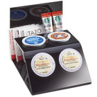 Cal-Mil 3579-13 4 Slot Black Single Serve Plastic Coffee Pod and Packet Organizer - 6 3/4 inch x 5 inch x 5 inch