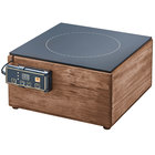Cal-Mil 3633-78 Walnut Countertop Induction Cooker - 120V, 1600W