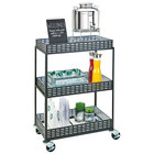 Cal-Mil 3583-13 3-Shelf Iron Beverage Cart - 29