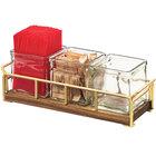Cal-Mil 3714-46 Mid-Century 13 1/2 inch x 4 1/2 inch x 4 3/4 inch Jar Organizer with Brass Frame