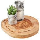 "Cal-Mil 3556-17 Natural Wood Serving Board - 17"" x 1 1/2"""