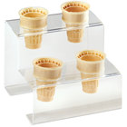 Cal-Mil 3601-4 Four Cone Acrylic Ice Cream Cone Holder - 7 inch x 7 inch x 6 inch