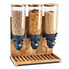 Cal-Mil 3584-3-99 Madera 4.5 Liter Triple Canister Cereal Dispenser