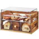 Cal-Mil 3624-99 Madera Rustic Pine 2 Tier Bread Display Case - 20 1/8 inch x 12 3/4 inch x 13 1/8 inch